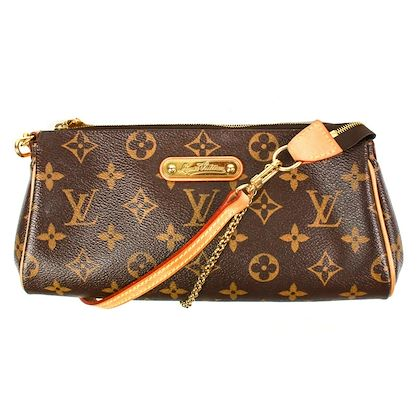 louis-vuitton-eva-bag-with-shoulder-strap-brown-monogram-leather-gold-chain-pre-owned-used