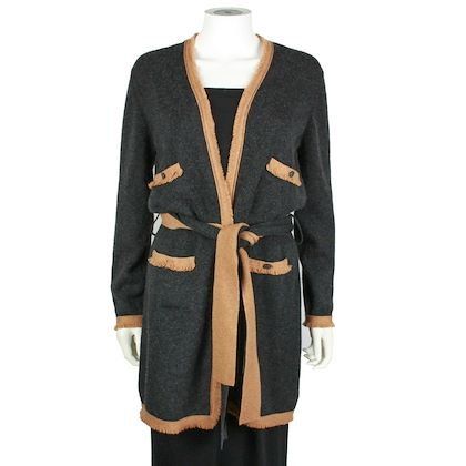 chanel-cardigan-long-cashmere-4-pocket-grey-brown-detail-us-12-44-06a-pre-owned-used