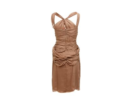 brown-fendi-halterneck-dress-with-floral-appliques
