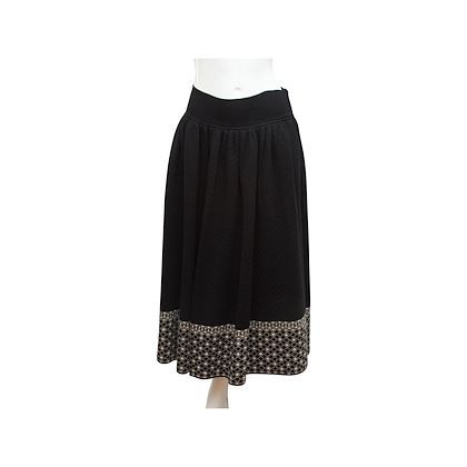 black-vintage-yves-saint-laurent-russian-collection-skirt