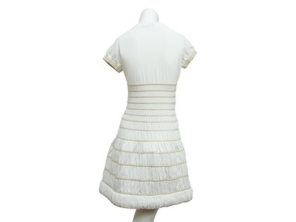 white-alaia-stretch-fit-and-flare-dress