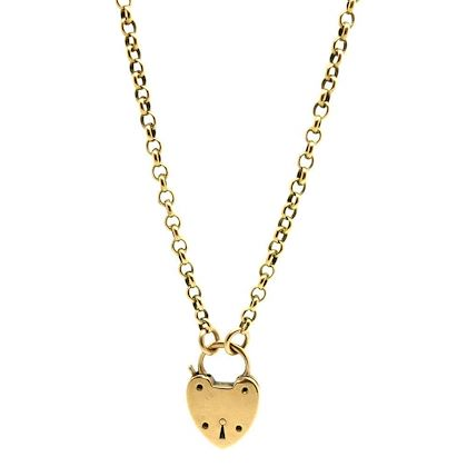 antique-victorian-padlock-9ct-yellow-gold-chain-necklace