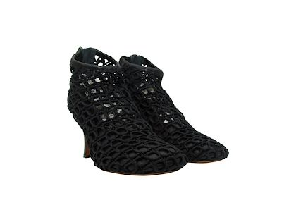 black-celine-knotted-rope-leather-ankle-boots