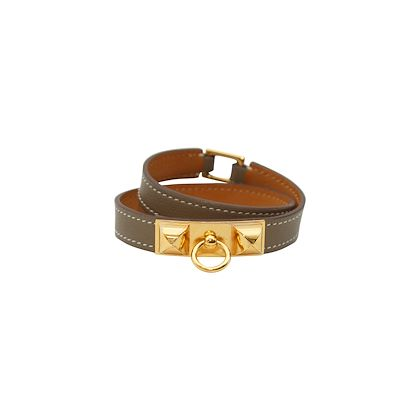 brown-hermes-micro-rivale-leather-wrap-bracelet