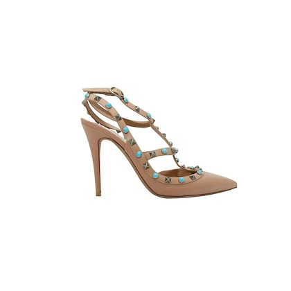 nude-valentino-turquoise-rockstud-leather-pumps