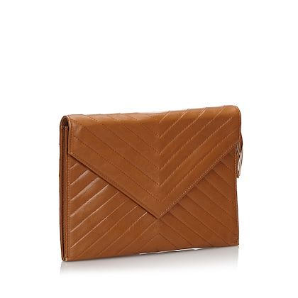 ysl-leather-chevron-clutch-bag