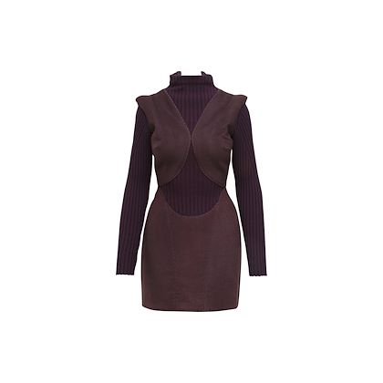 purple-alexander-mcqueen-fall-2007-ribbed-knit-dress