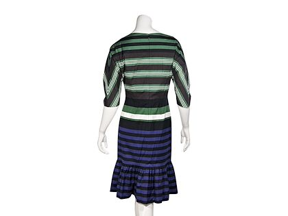 multicolor-prada-striped-stretch-cotton-dress