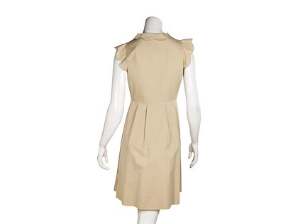 tan-valentino-cotton-ruffled-dress