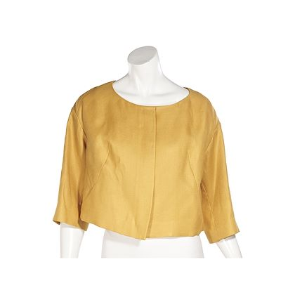 yellow-chloe-linen-cropped-jacket