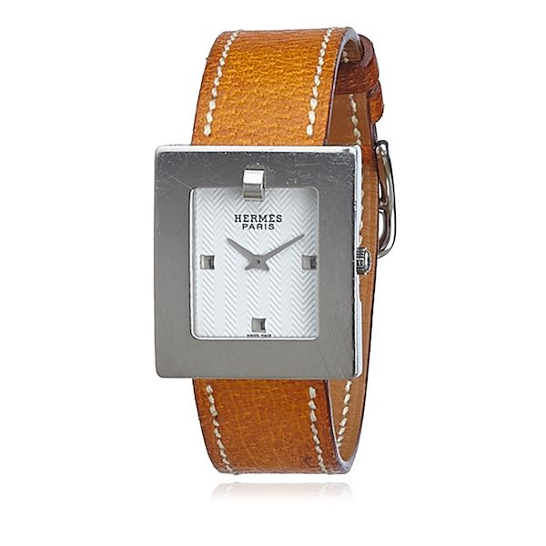brown-hermes-be1210-leather-watch