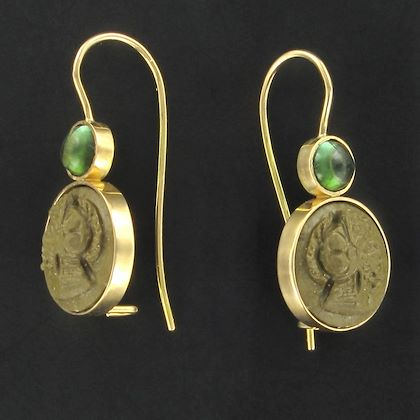 baume-creation-tourmaline-lava-stone-cameo-gold-drop-earrings-2