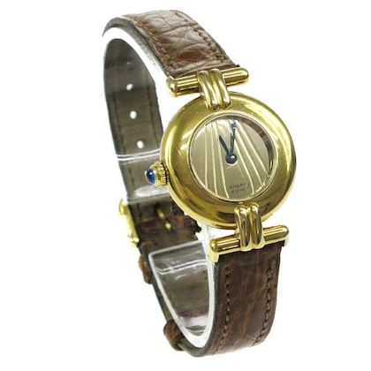 cartier-vermeil-quartz-wristwatch-watch-brown