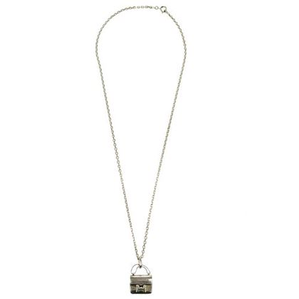 hermes-constance-bag-motif-silver-chain-necklace-pendant