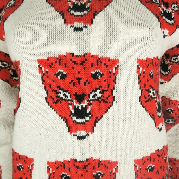 gucci-panther-sweater-red-white-and-blue-wool-size-xs-pre-owned-used