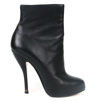 christian-louboutin-booties-black-leather-heel-pointed-toe-boots-us-55-36-pre-owned-used
