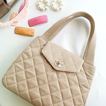 chanel-cotton-gingham-check-pattern-turn-lock-tote-bag-beigesilver