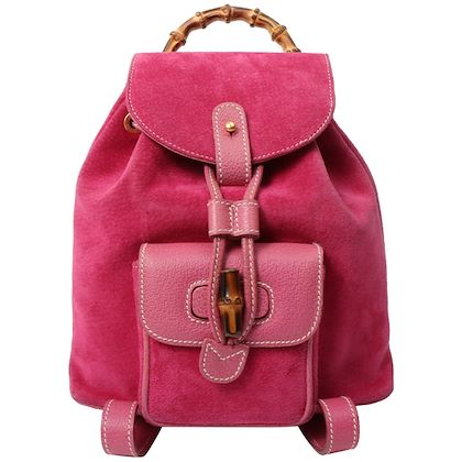gucci-suede-bamboo-mini-backpack-pink