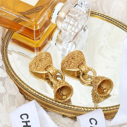 chanel-triangle-dotted-cc-mark-bell-swing-earrings