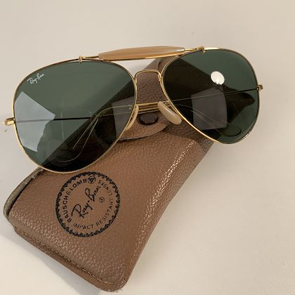 ray-ban-bausch-lomb-vintage-gold-mint-outdoorsman-aviator-sunglasses