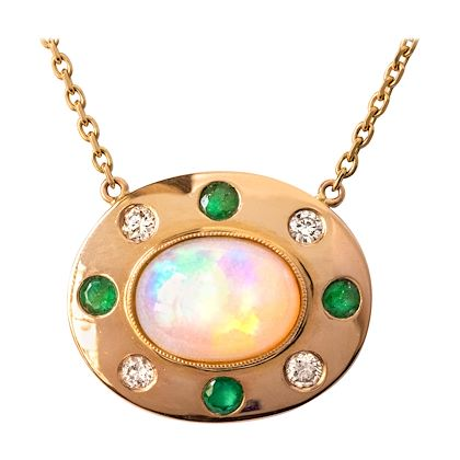 baume-opal-emerald-diamond-18-karat-yellow-gold-necklace