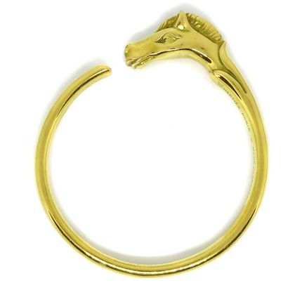 hermes-cheval-horse-motif-bangle-gold