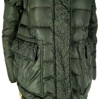 moncler-studded-down-puffer-coat-hood-dark-green-jacket-us-small-1-womens-pre-owned-used