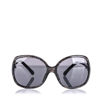 gray-chanel-tweed-effect-oversized-sunglasses