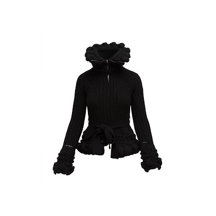 black-alexander-mcqueen-turtleneck-knit-jacket