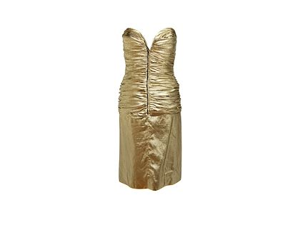 metallic-gold-vicky-tiel-ruched-cocktail-dress