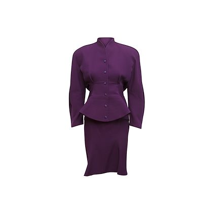 purple-vintage-1980s-thierry-mugler-wool-skirt-suit-set