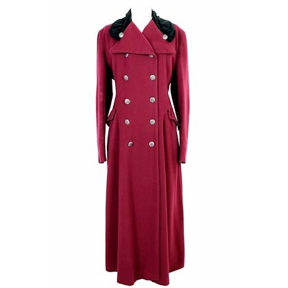 dolce-gabbana-red-vintage-double-breasted-long-coat