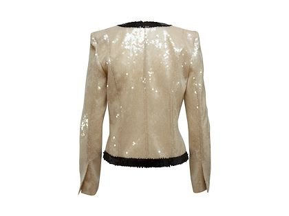 cream-black-balmain-sequin-jacket