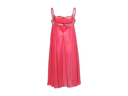 hot-pink-alexander-mcqueen-pleated-babydoll-dress