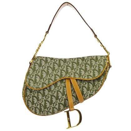 christian-dior-trotter-pattern-saddle-shoulder-bag-khaki