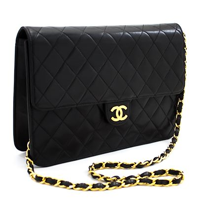 chanel-chain-shoulder-bag-clutch-black-quilted-flap-lambskin-purse-51