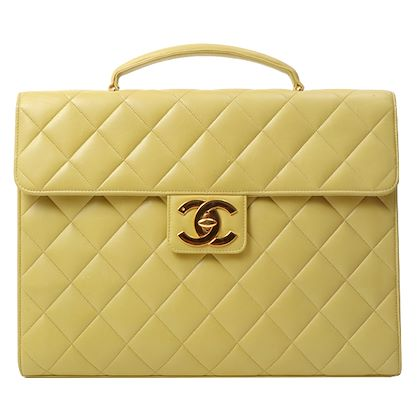 chanel-turn-lock-handbag-yellow