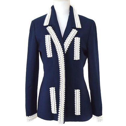 chanel-lace-motif-buttonless-long-sleeve-jacket-navy
