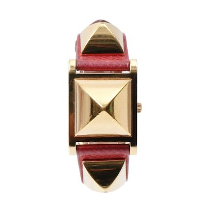 hermes-medor-watch-burgundy