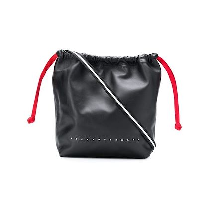 black-alexander-wang-leather-drawstring-shoulder-bag