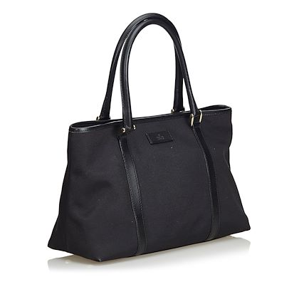 black-gucci-canvas-tote-bag