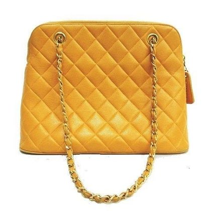 vintage-chanel-yellow-caviar-leather-chain-shoulder-bag-with-cc-stitch-mark-lucky-and-good-fortune-color-classic-purse