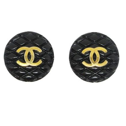 chanel-cc-logos-quilted-earrings-black
