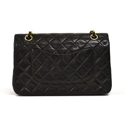 vintage-chanel-classic-10-double-flap-black-quilted-leather-shoulder-bag-2