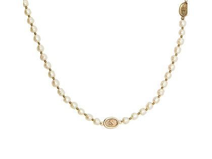 chanel-faux-pearl-logo-charm-necklace
