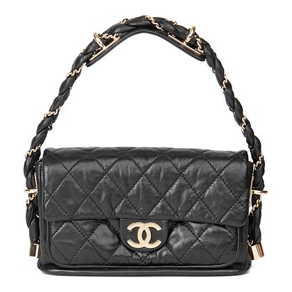 black-quilted-aged-calfskin-leather-classic-single-flap-bag