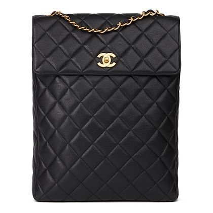 black-quilted-caviar-leather-vintage-classic-shoulder-bag-5