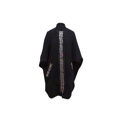 black-louis-vuitton-cape-with-multicolored-stone-trim