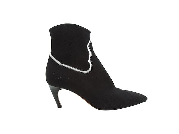 black-white-christian-dior-knit-ankle-boots