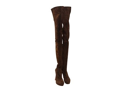 brown-christian-louboutin-suede-over-the-knee-boots